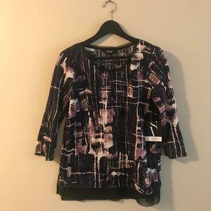 Vera Wang 3/4 sleeve blouse, small